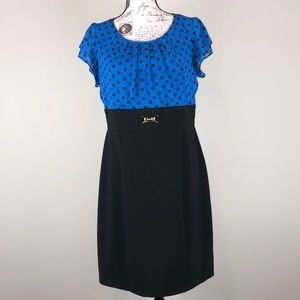 AGB body con blue and black summer dress